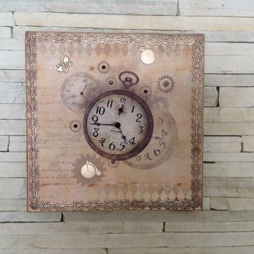 Quadro relógio vintage