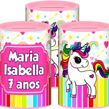 Cofrinho Personalizado Unicornio + BRINDE GRÁTIS*