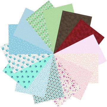 Kit Tecido Tricoline 100% Algodão Multicolorido 57 #14 25x70