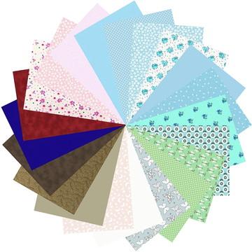 Kit Tecido Tricoline 100% Algodão Multicolorido 60 #21 25x70