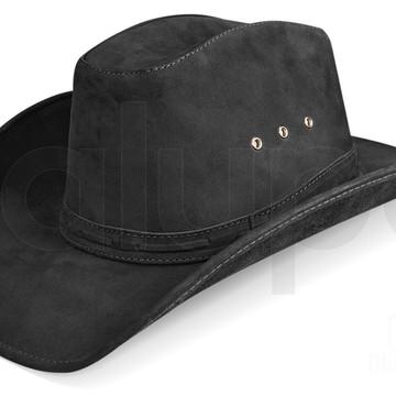 2ead51cc5da5c Chapeu Couro Masculino Country Texano Americano Rodeio Preto