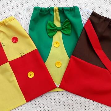 Lembrancinha mochilinha Sítio do pica pau amarelo