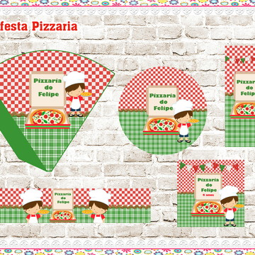 Kit festa digital Pizzaria