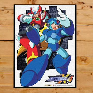 Quadro Decorativo Mega Man X4 Playstation 1 Ps One 30x42cm