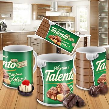 Canecas personalizada chocolate Talento Garoto