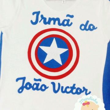 Camisetas personalizada familia vingadores