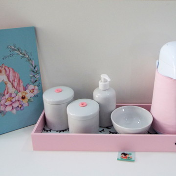 Coleção P&B - Kit Higiene Sleepy Eyes Rosa BL31