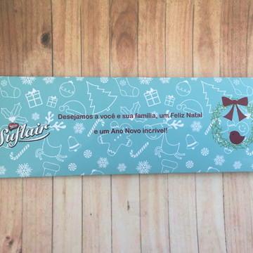 Embalagem para Suflair Natal azul.