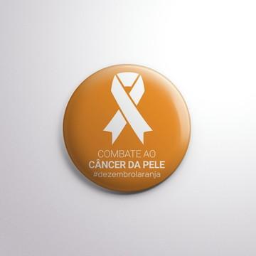 Botton - Dezembro Laranja (câncer de pele)