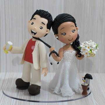 Topo de Casamento Médicos com Estetoscópio