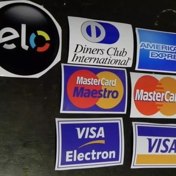 Kit Adesivo Cartão De Crédito Elo Dinners American Visa Mast