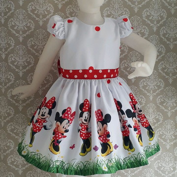 Vestido Tema Minnie