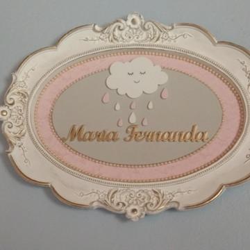 Quadro Porta Maternidade Nuvem