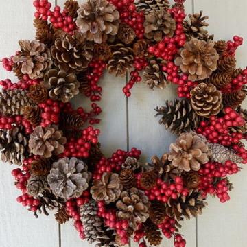 Guirlanda De Natal com flores 60 x 60 cm condomínios!!