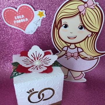 Caixa lembrancinha/convite casamento, noivado e bodas