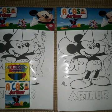 Kit desenho Casa do Mickey
