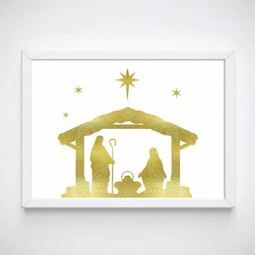 Quadro decorativo religioso presépio decoração casa natal
