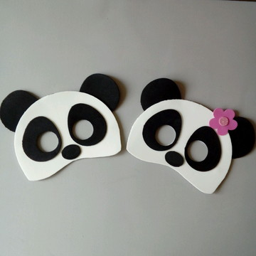 Máscara infantil Ursinhos Panda de EVA