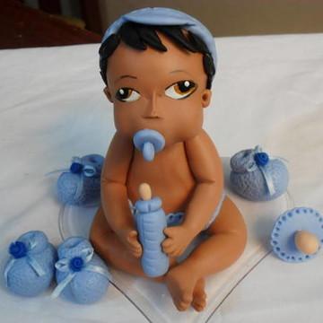 topo de bolo de chá de bebê