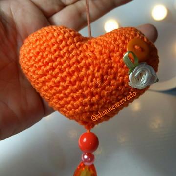Chaveiro Coração Amigurumi