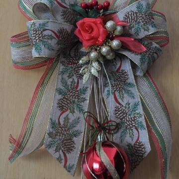 Laço para Porta - Natal Rústico