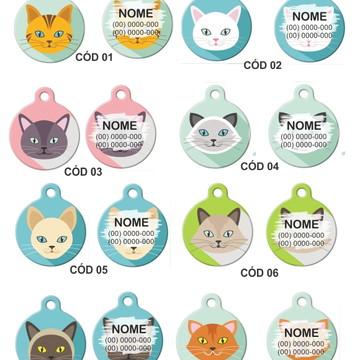 coleira e plaquinha de identificação para gatos