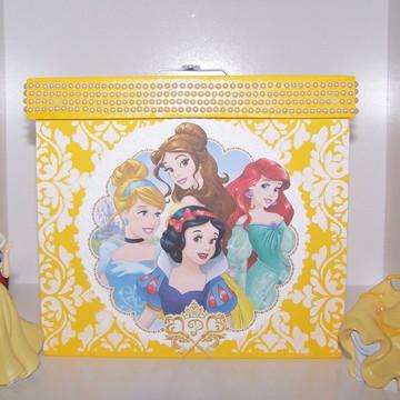 Caixa decorativa em MDF - Princesas da Disney