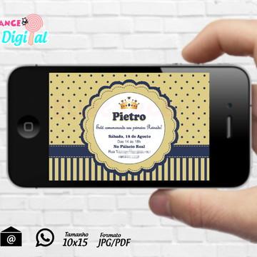 Convite Digital Príncipe Reinado