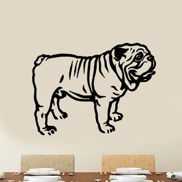 Adesivo de Parede - Bulldog Inglês