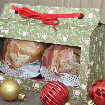 Arquivo de corte caixa para 2 mini panetone natal