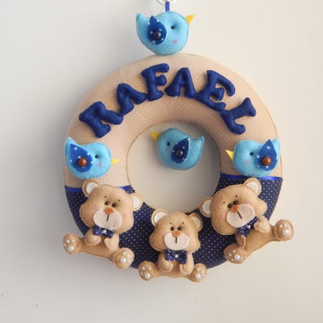 enfeite porta maternidade tema urso