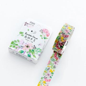 Washi Tape - Flores Coloridas com Foil