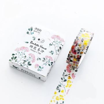 Washi Tape - Flores com Foil
