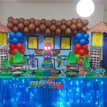 Mesa decorada PJ MASKS