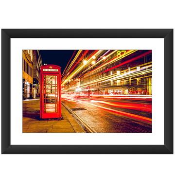 Quadro Londres Telefone Vermelho Colorido Efeitos Luz Decora