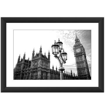 Quadro Londres Big Ben Torre Poste Luz Cidade Decorar Casa
