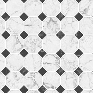 Papel De Parede Autocolante Sob Mosaico De Mármore