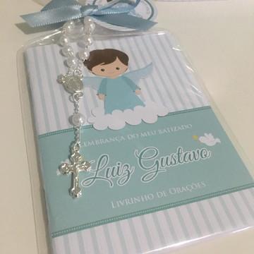 Livro de Orações Batizado - Anjinho azul