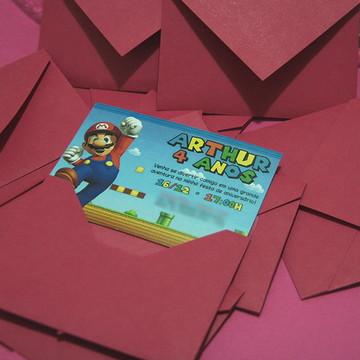 Convite Mario Bros