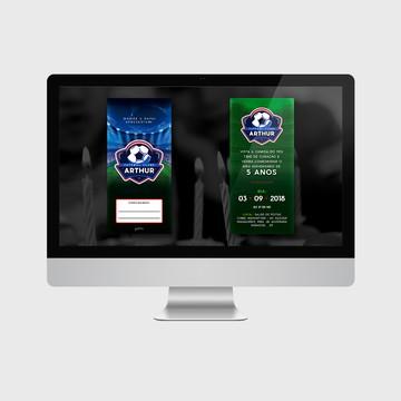 Convite Futebol PARA IMPRIMIR