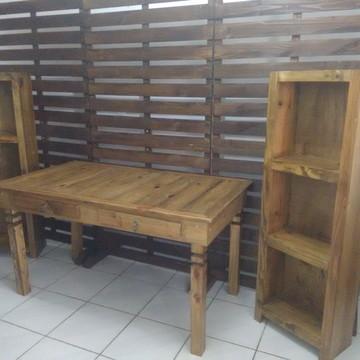 Aluguel mesa rustica kit 5
