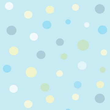 Papel Parede Bolinhas em Cores Suaves Sobre Azul Bebê Vinil