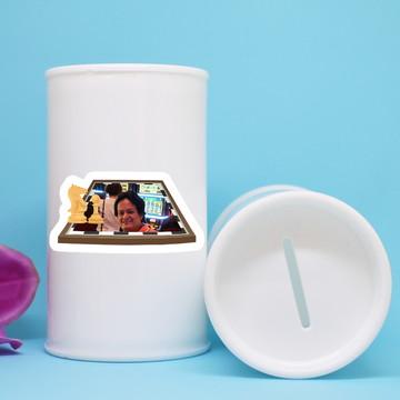 Cofrinho de plástico com foto – xadrez