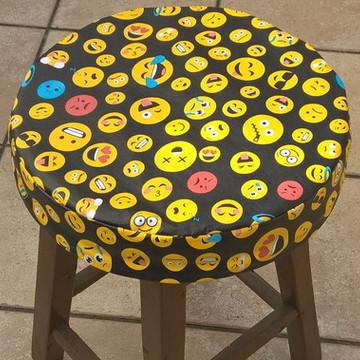 Capa Emoji para Banqueta/Banco com Espuma
