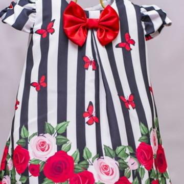 Vestido Infantil de Festa Floral