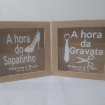 Cofre - Hora da Gravata + Hora do Sapatinho 20x20 cm