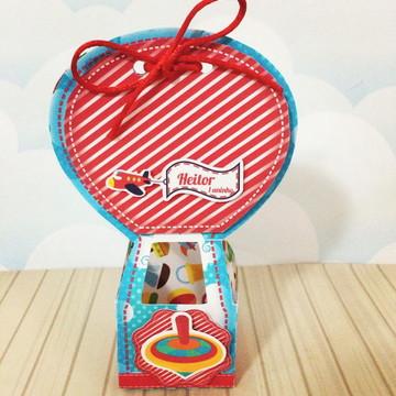 Caixa balão - festa brinquedos