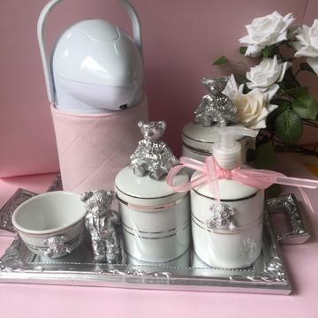 Kit Higiene Ursinho Prata