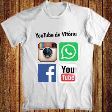 Camiseta redes sociais
