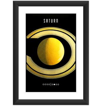 Quadro Planeta Saturno Sistema Solar Universo Nasa Decoracao